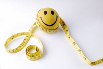 smile with centimeter