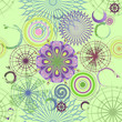 Vector green seamless background with circles