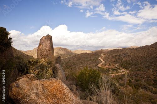 Road to Arizona's Four Peaks Wilderness