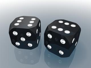 Кубики для игры в кости (серебро)
