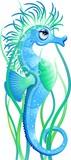 Cavalluccio Marino Cartoon-Seahorse Cartoon-Vector poster