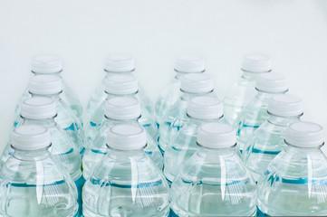 set of 16 bottles spring water