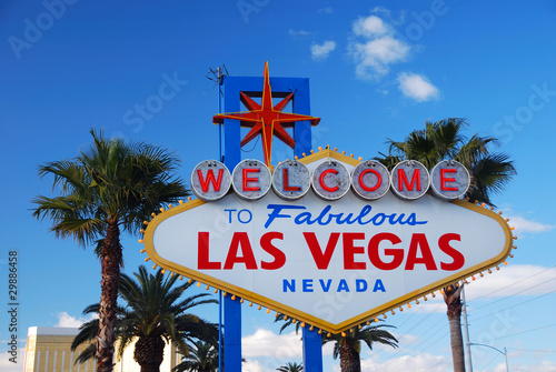 Poster Las Vegas welcome sign