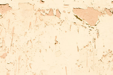 Weathered Paint Peeling Flaking Off Adobe Wall