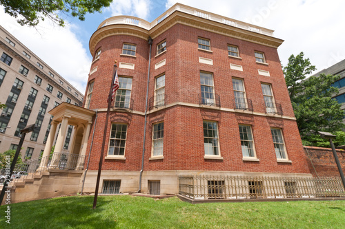 Small Federal Adamesque Brick House Washington DC
