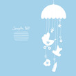 Hanging Mobile Baby Symbols Boy Blue