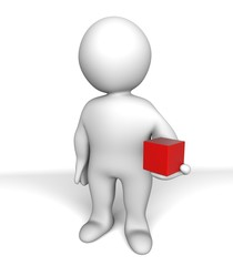 holding a box