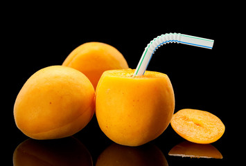 Fresh apricot juice drink concept