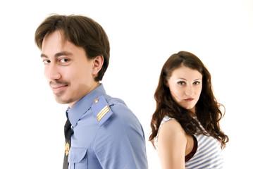 policeman and criminal