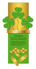 St. Patrick's Day Banner Money