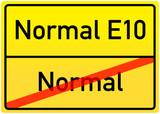 Schild Normal/Normal E10 poster