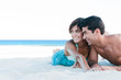 Young couple together at beach
