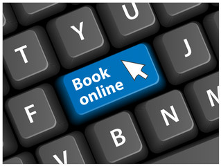 BOOK ONLINE Key on Keyboard (e-booking order now cursor button)