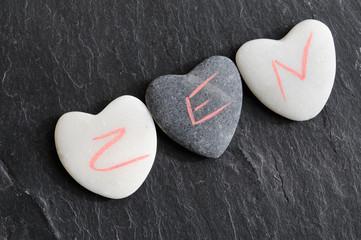 Galets coeur Zen