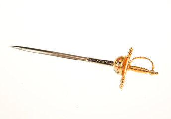 Ancient sword isolated on the white background