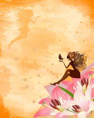 Fairies on flowers