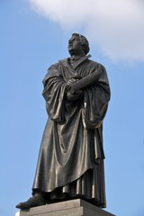 Martin Luther statue, Dresden city centre