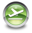 "Green Glossy Pictogram ""Airport Departures"""
