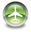 "Green Glossy Pictogram ""Airport / Airplane"""