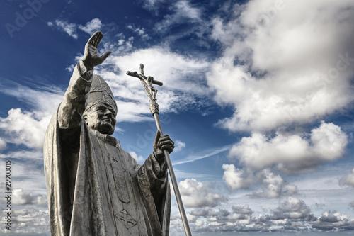 Bronze statue of John Paul II