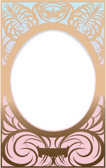Ornamental blue rose frame