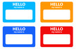 Vector name cards set