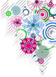 Vector multicolor circles abstract background