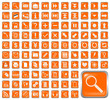 101 Symbole, orange, Icons, Buttons
