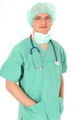 Arzt in OP Kleidung