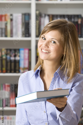 Shop assistant in the bookshop
