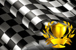 Checkered Background horizontal with cup