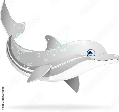 Fototapeta Delfino Cartoon-Dolphin Cartoon-Vector