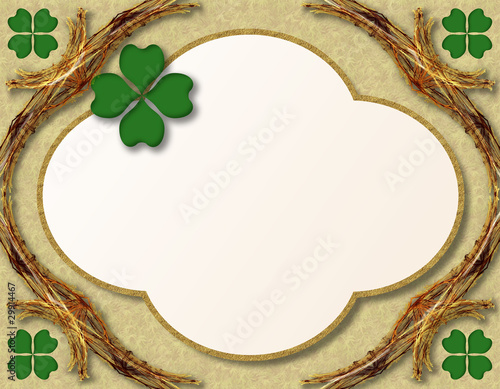 St. Patrick's Day decoration or grating card 2