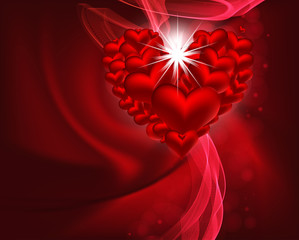 beautiful vector heart background design with space for your tex