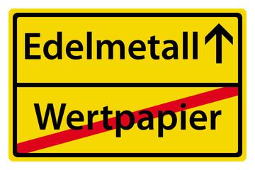 Edelmetall anstatt Wertpapier
