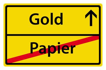 Gold anstatt Papier