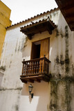 Old Colonial Balcony. Cartagena, Colombia. poster