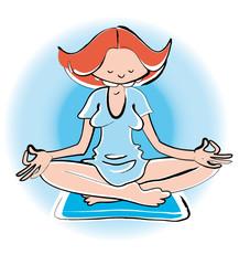 Anika en plein yoga