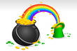 Saint Patrick's Hat and Pot filled with Gold Coins