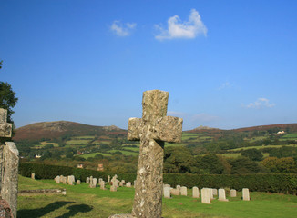 Churchyard of Widecombe in the Moor, Dartmoor, Devon