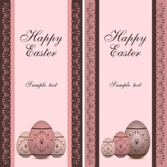 easter greeting cards with eggs