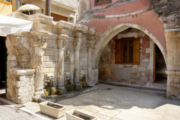 Old fountain. Rethymno. Crete, Greece