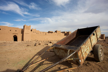 Old fortress in the desert of Morocco