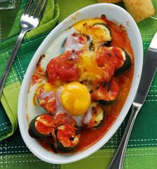 Calabacín y huevos