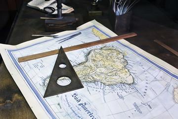 Old sea chart