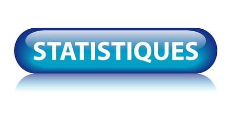 Bouton Web STATISTIQUES (données mathématiques graphique bleu)