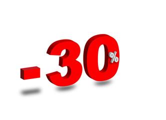 - 30 %