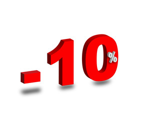 - 10 %