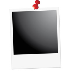 Polaroid photos attaché avec punaise