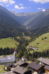 mountain valley village in Austrian Alps